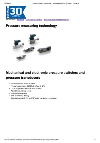 Pressure measuring technology