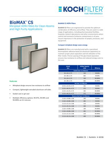 BioMAX CS - Brochure