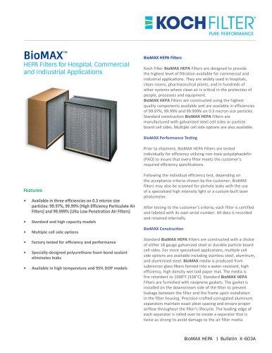 BioMAX HEPA