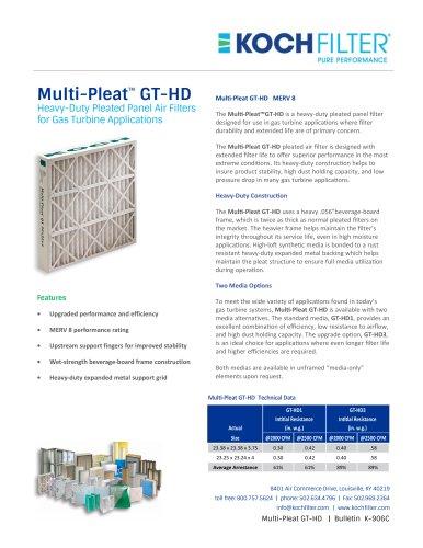 Multi-Pleat GT-HD