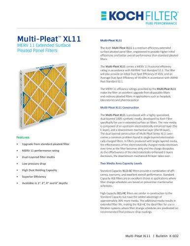 Multi-Pleat XL11