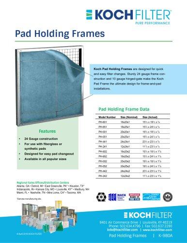 Pad Holding Frames