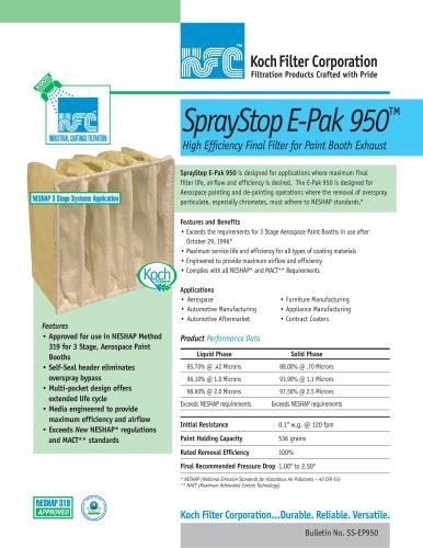 SprayStop E-Pak 950™