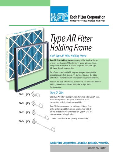 Type ARFilter Holding Frame
