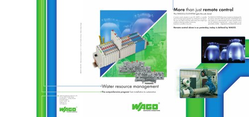Range of water resource applications