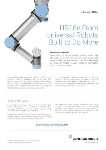 UR16e tech sheet
