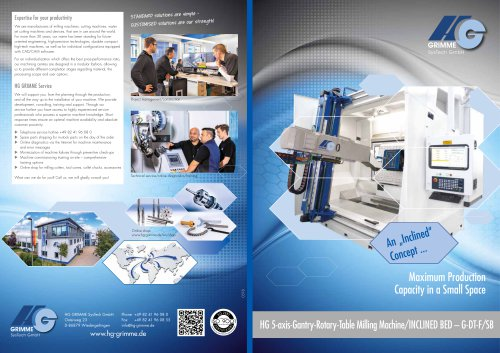 HG 5-axis-Gantry-Rotary-Table Milling Machine/INCLINED BED – G-DT-F/SB