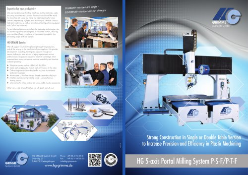 HG 5-axis Portal Milling System P-S-F/P-T-F