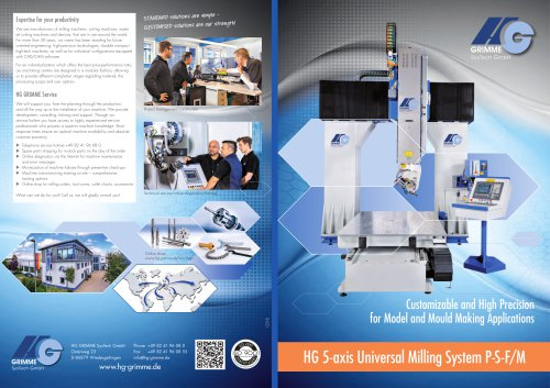 HG 5-axis Universal Milling System P-S-F/M