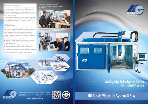 HG 5-axis Water Jet System G-S-W