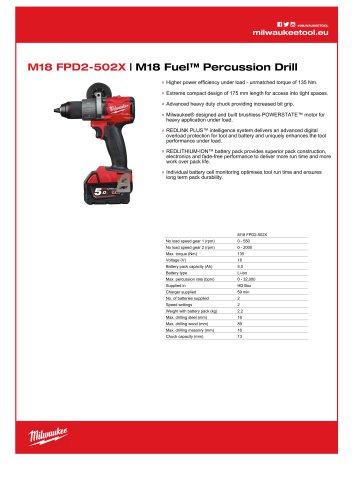 M18 FPD2-502X | M18 Fuel™ Percussion Drill