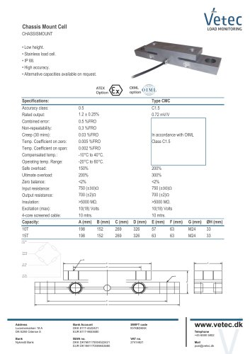 CHASSIS MOUNT LOAD CELL