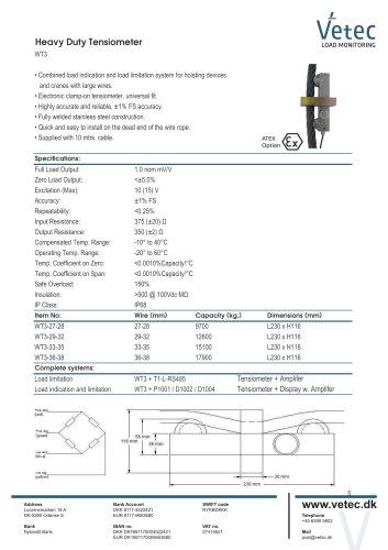 Heavy Duty Tensiometer