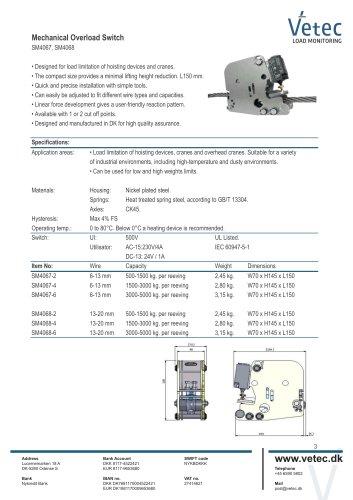 Mechanical Overload Switch SM4067, SM4068