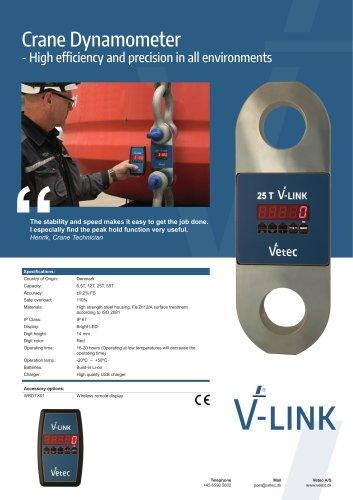 V-LINK Dynamometer for hoists and cranes