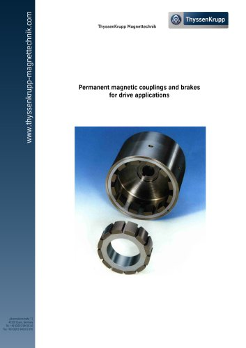 Permanent magnetic couplings and brakes