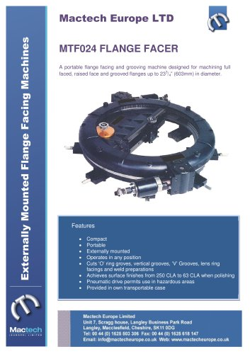 Mactech MTF024 Flange Facing Machine