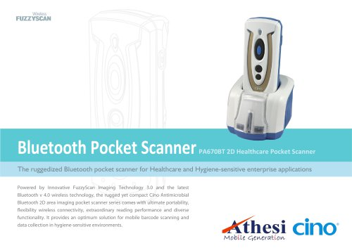 PA670BT 2D Healthcare Pocket Scanner