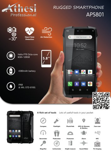 Rugged Smartphone - Athesi Professional - AP5801
