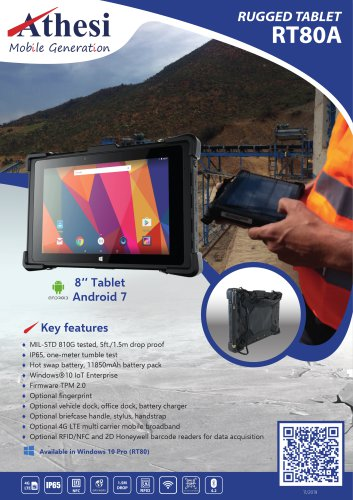 Rugged Tablet RT80A