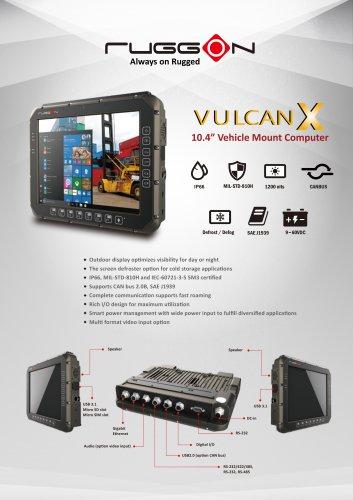 VULCAN X 10''4 rugged vehicle mount computer