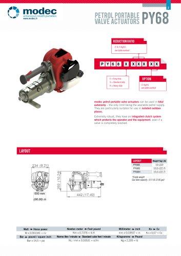 Gas portable valve actuator PY68