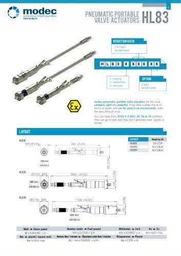 Pneumatic portable valve actuator HL83