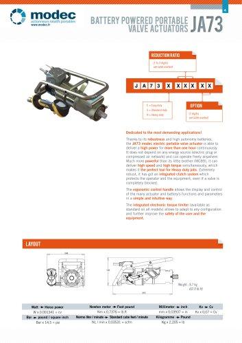 Portable Valve Actuator JA73