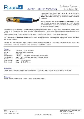 Cut marking Laser ORT90° Series
