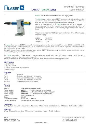 Green laser Pointer Series OEMV
