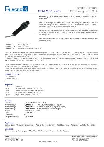 Positioning Laser OEM M12 Series