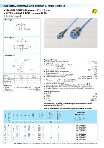 NAMUR SERIES diameters 12 - 18 mm
