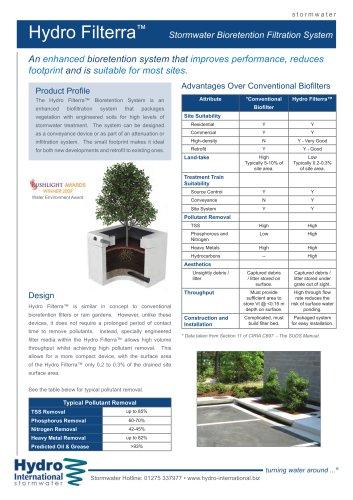 Hydro Filterra Bioretention System