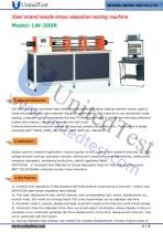 STEEL STRAND TENSILE STRESS RELAXATION TESTING MACHINE