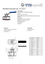 S22D SS316 2-piece ball valve
