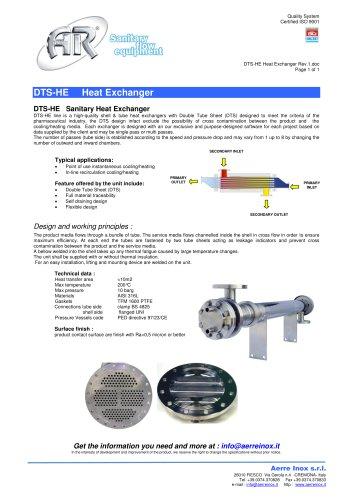 DTS-HE Heat Exchanger