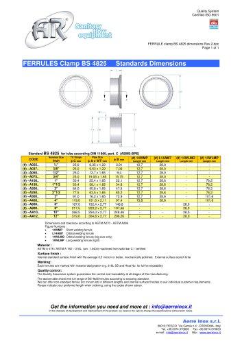 FERRULE clamp BS 4825