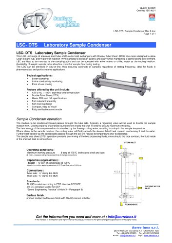 LSC-DTS Sample Condenser