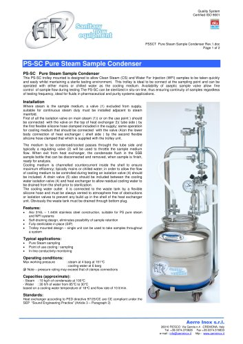 PSSCT Pure Steam Sample Condenser
