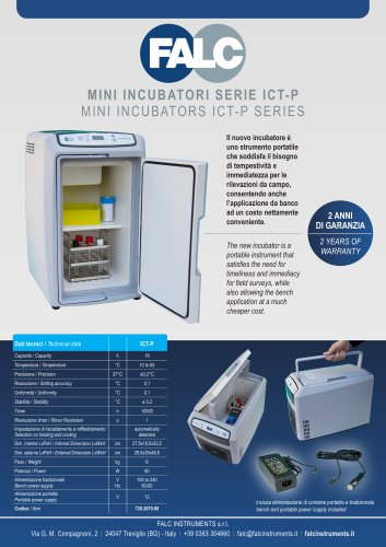 MINI INCUBATORS ICT-P SERIES