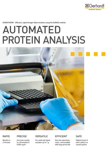 DUMATHERM® - Automated protein analysis