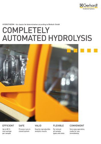 HYDROTHERM - Completely automated hydrolysis