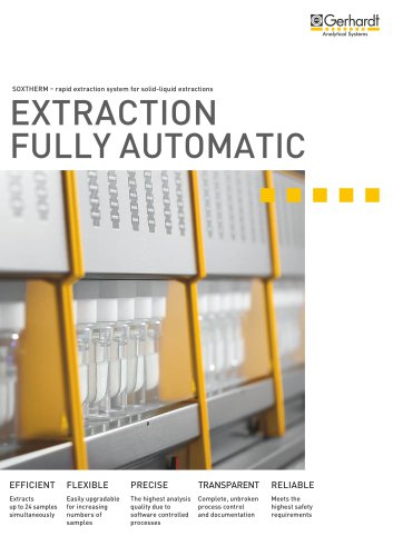 SOXTHERM® - Extraction fully automatic