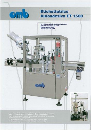 ET 1500 self-adhesive labeling machine