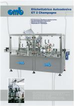 ET 2 Champagne self-adhesive labeling machine