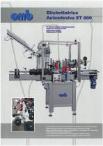 ET 800 self-adhesive labeling machine