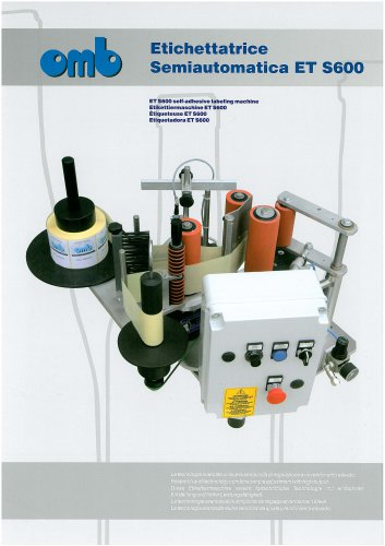ET S600 self-adhesive labeling machine