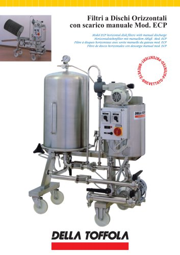 Model ECP horizontal disk filters with manual discharge