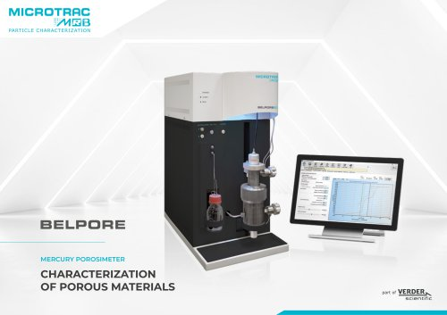 Characterization of porous materials
