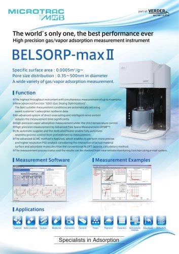 Gas/Vapor Adsorption Analyzer BELSORP maxII